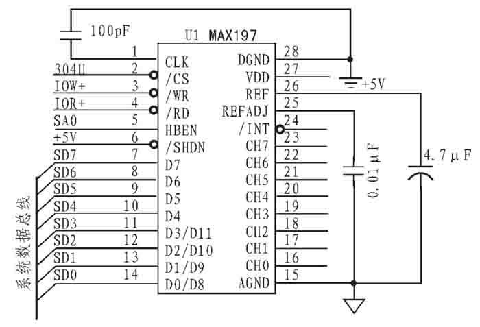 图2 a/d 电路原理图