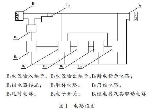 2 电路组成本装置内部电路主要有取样电路,门控电路,延时电路,电子