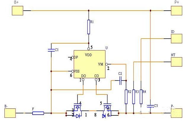 普通锂电池保护板通常包括控制ic