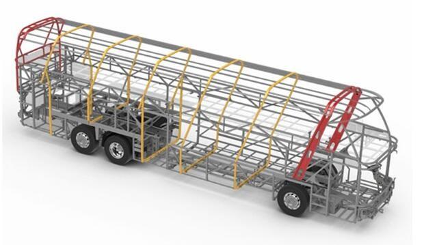 电动客车技术路线引争议:全承载骨架结构更安全?