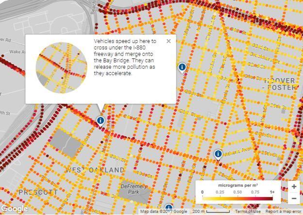 谷歌利用街景车监测大气污染