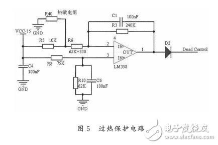 3V时,输出的PWM 波的占空比降为0,输出为低电平,使开关管不导通,切断