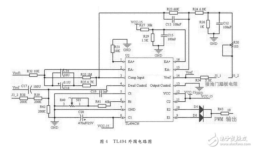 基于tl494芯片的电动车电机控制器