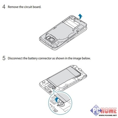 详细步骤图解:三星s6可换电池?